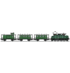 Vintage electric train vector