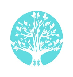 abstract blue art tree closeup vector image vector image