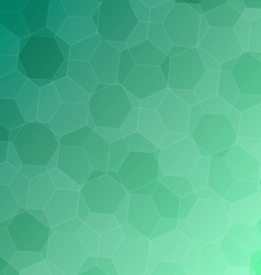 Abstract green background with hexagons vector