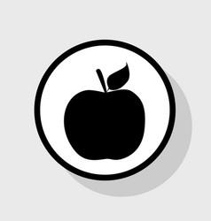 Apple sign flat black icon vector