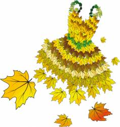 Autumn dress vector