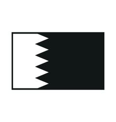 Bahrain flag isolated on white background vector