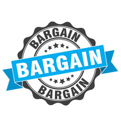 Bargain stamp sign seal vector