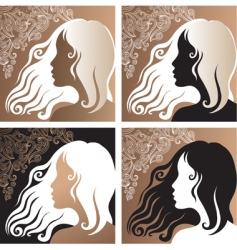 beautiful vintage girl vector image