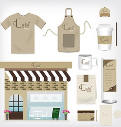 Cafe Shop Set can be used for Layout Flyer banner vector image