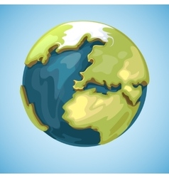 Cartoon earth planet globe in vector image