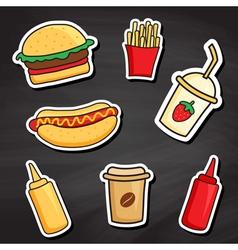 chalkboard fastfood vector image vector image