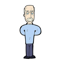 Comic cartoon annoyed balding man vector