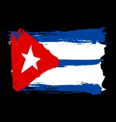 Cuba grunge flag vector image vector image