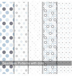 Delicate dotted patterns vector