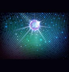 disco ball background disco party poster vector image
