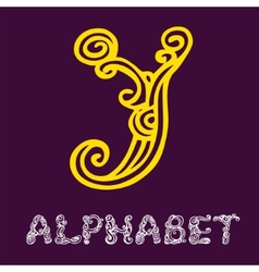 Doodle hand drawn sketch alphabet Letter Y vector image