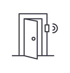 door signal security concept thin line icon vector image