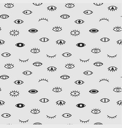 Eyes seamless pattern memphis fshion style vector