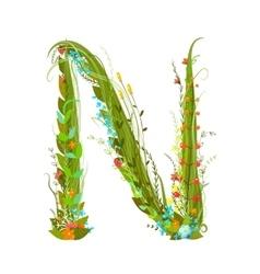 Flower calligraphy floral elegant decorative vector image