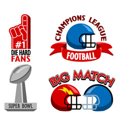football championship fancy badge vector image