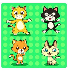 Funny Cats vector image