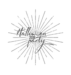Halloween party typography label holiday vector