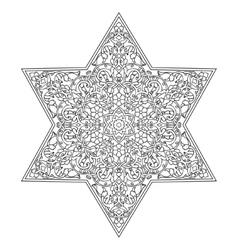 Hand drawing zentangle element vector image vector image
