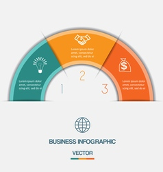 infographic on three positions vector image vector image