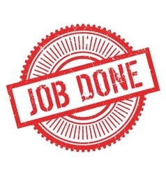 Job done stamp vector image vector image