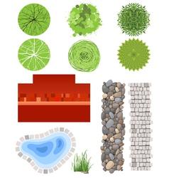 landscape elements vector image