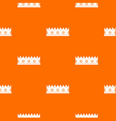 little crown pattern seamless vector image vector image