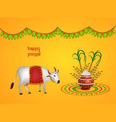 Llustration of indian festival pongal background vector