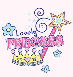 Lovely princess vector