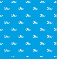 men sneakers pattern seamless blue vector image
