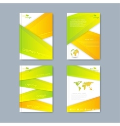 Modern set of brochures in the ecology vector image vector image