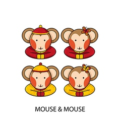Mouse Chinese vector image vector image