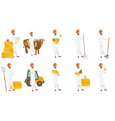 Muslim farmer set vector