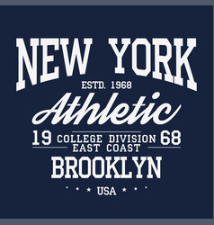 new york brooklyn typography badge for t-shirt vector image