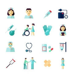 Nurse icon flat vector image vector image