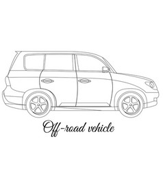Off-road vehicle car body type outline vector