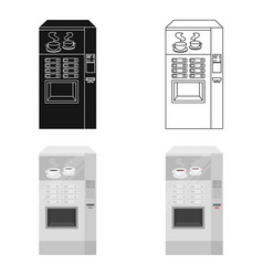 Office coffee vending machine icon in cartoon vector