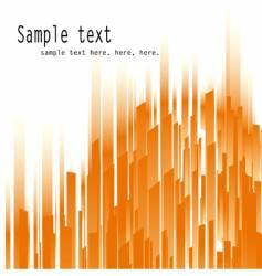 orange lines vector image vector image