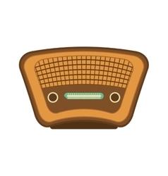 Radio icon retro technology design vector