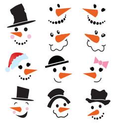 Snowman faces vector