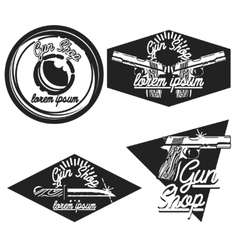 Vintage guns shop emblems vector