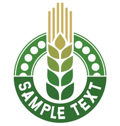 Wheat sign - badge vector