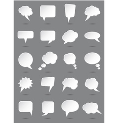 White speech bubbles set with shades vector image
