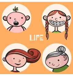 Woman life cycle vector