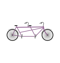 Tandem bicycle isolated on white background vector