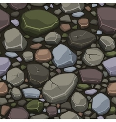 View from above cartoon colors stone texture vector