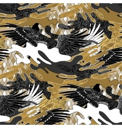 Abstract camouflage pattern vector