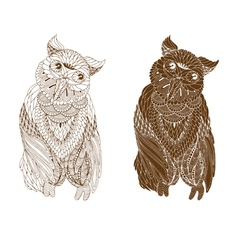 Owl on a white background vector