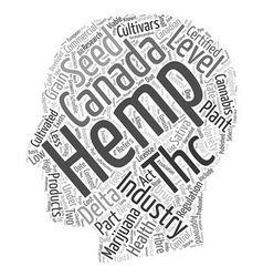 Industrial hemp cannabis sativa part text vector