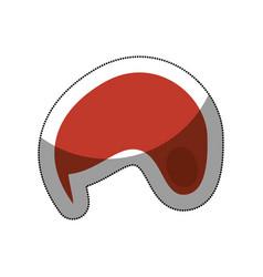 snowboarding helmet isolated icon vector image